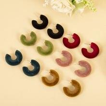 Новые модные милые серьги гвоздики конфетных цветов на осень