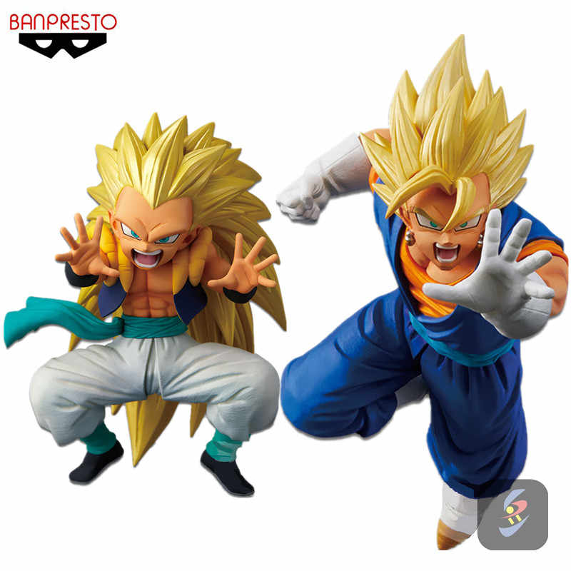 Banpresto dragon ball z dbz ssj vegetto do ssj3 gotenks vol. 2 brinquedos figurais modelo bonecas brinquedos