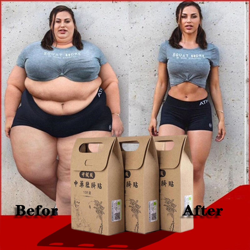 Parches de medicina china para adelgazar, 10 unidades/bolsa, parche para pérdida de peso, parches delgados más fuertes, hoja adhesiva de desintoxicación, herramienta de Estiramiento facial