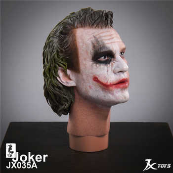 "JXTOYS-035 Batman Dark Knight 1:4 Male Head sculpt 1/4 The Joker Head Model PVC Head for 12"" figure body collection toys"