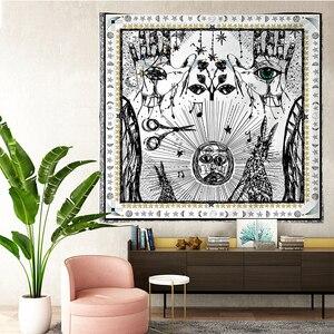Image 5 - טארוט שטיחי שמש כוכב ירח תלוי שטיח היפי קיר תליית שמיכת קיר שטיח יוגה מחצלת בית תפאורה