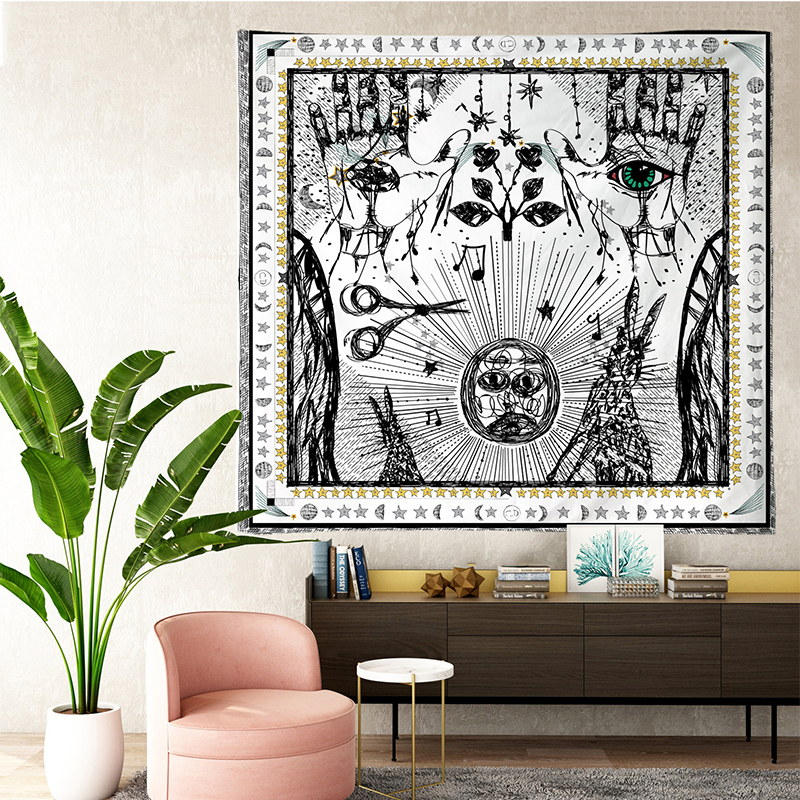 Image 5 - Tarot Tapestries Sun Star Moon Hanging Tapestry Hippie Wall  Hanging Blanket Wall Carpet Yoga Mat Home DecorTapestry   -