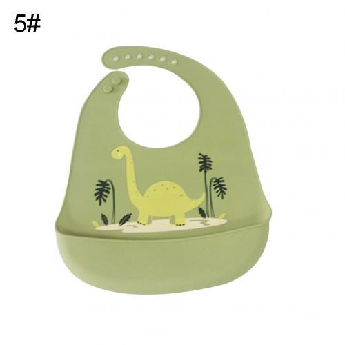 Водонепроницаемый Регулируемый нагрудник с животным принтом для малышей с карманом для кормления слюнявчик полотенце для еды аксессуар мягкий детский материал обеспечивает уход - Цвет: Green Dinosaur