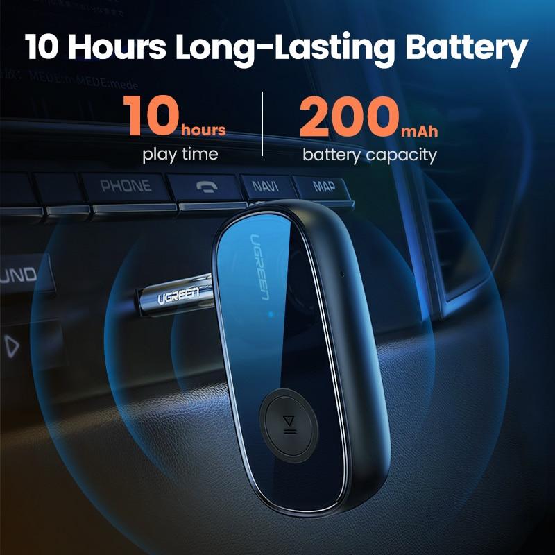 Ugreen Bluetooth Receiver 5.0 aptX LL 3.5mm AUX Jack Audio Wireless Adapter for Car PC Headphones Mic 3.5 Bluetooth 5.0 Receptor 3