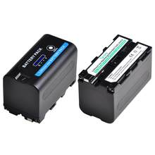 Tectra NP-F770 NP-F750 NPF770 f750 Batterie Li-ion avec ALIMENTATION LED Indicateurs Pour Sony NP F970 F960 F550 F570 QM91D CCD-RV100(China)