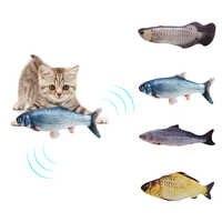 30 cm eletrônico brinquedo do gato do animal de estimação brinquedos de peixes de simulação de carregamento usb elétrico para o gato do cão mastigando jogando mordendo suprimentos dropshiping