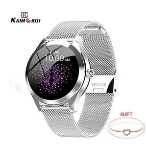 Image 1 - KW10 IP68 Waterproof Smart Watch Women Heart Rate Tracker Sport Smartwatch Fitness Bracelet Connect Android IOS KW20 smartband