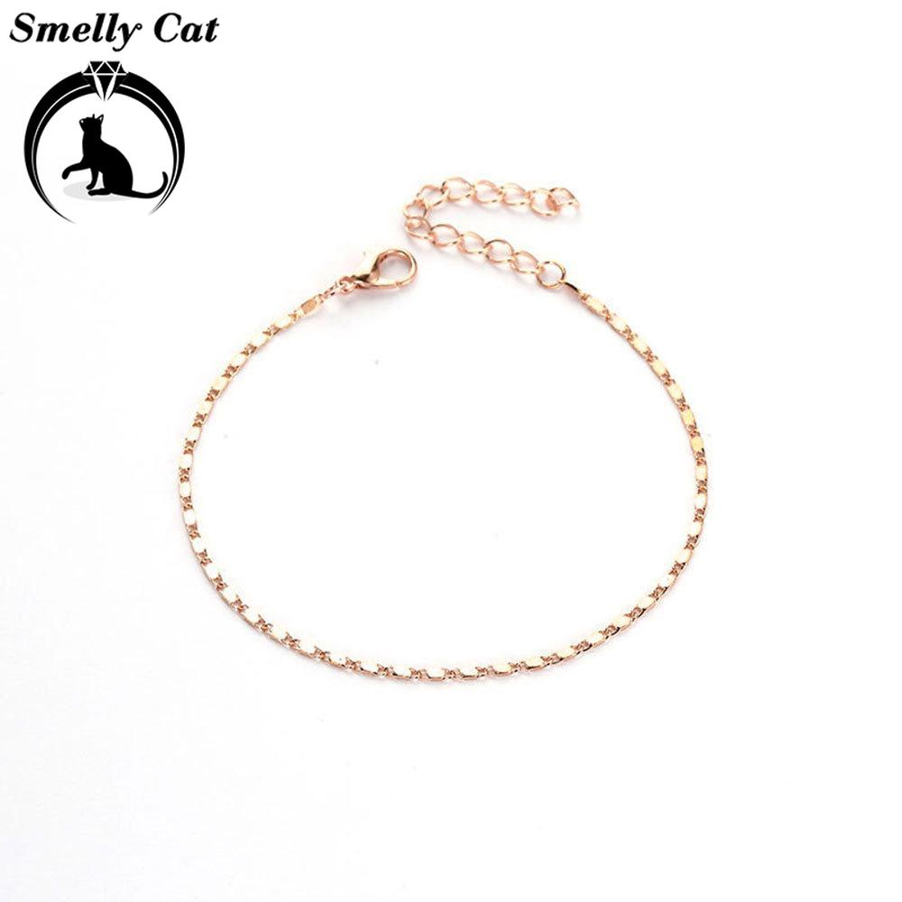 Smelly Cat Fine Sexy Anklet Ankle Bracelet Cheville Barefoot Sandals Foot Jewelry Leg Chain on Foot Pulsera Tobillo Women Halhal