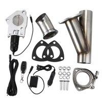 전기 스테인레스 배기 컷 아웃 덤프 밸브/원격 제어 스위치 TP024A + TP022A