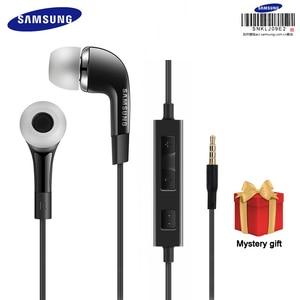 Image 1 - Наушники вкладыши Samsung EHS64, проводная гарнитура 3,5 мм, цвет черный, белый, с микрофоном, динамик для Galaxy S8/S8Plus S9/S9Plus
