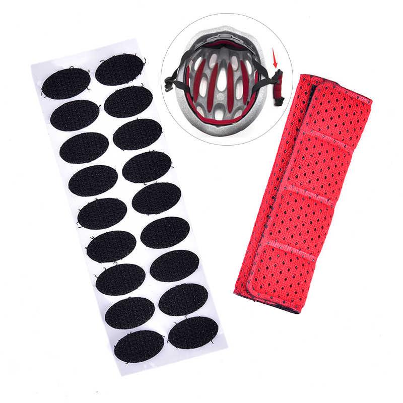1 PC คางหมวกกันน็อก Pad หรือ Magic เทป Universal Sport ฟองน้ำดูดซับเหงื่อจักรยานขี่จักรยานหมวกกันน็อก Pads จักรยานอุปกรณ์เสริม