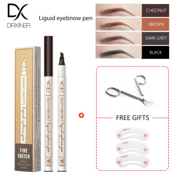 Eyebrow Pencil Microblading Eyebrow Tattoo Pen Fine Sketch Liquid Eyebrow Pen Waterproof Tattoo Durable Eye Brow Pencil make up