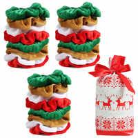 18/12/6/4PCS Samt Scrunchies Elastische Haar Gummi Bands Weihnachten Scrunchie Trendy Haar Krawatten Weihnachten haar Zubehör