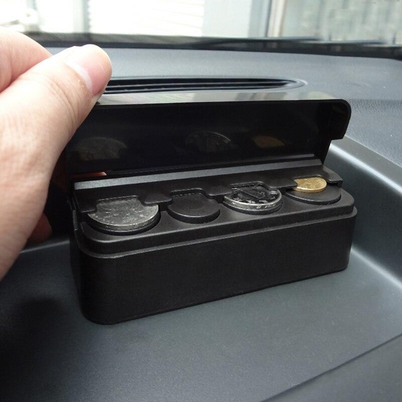 Mini Car Coin Holder Organizer Box Auto Money Container Storage Bag Automobiles Organizer Accessories 1