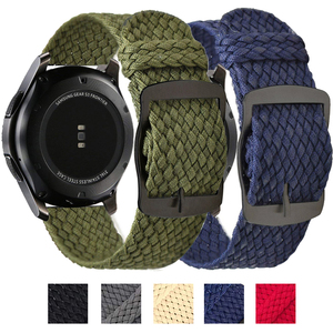 Band for Samsung Galaxy watch 46mm band Nylon active 2 Gear S3 strap Huami Amazfit Bip wrist loop 20mm 22mm Replacement Straps