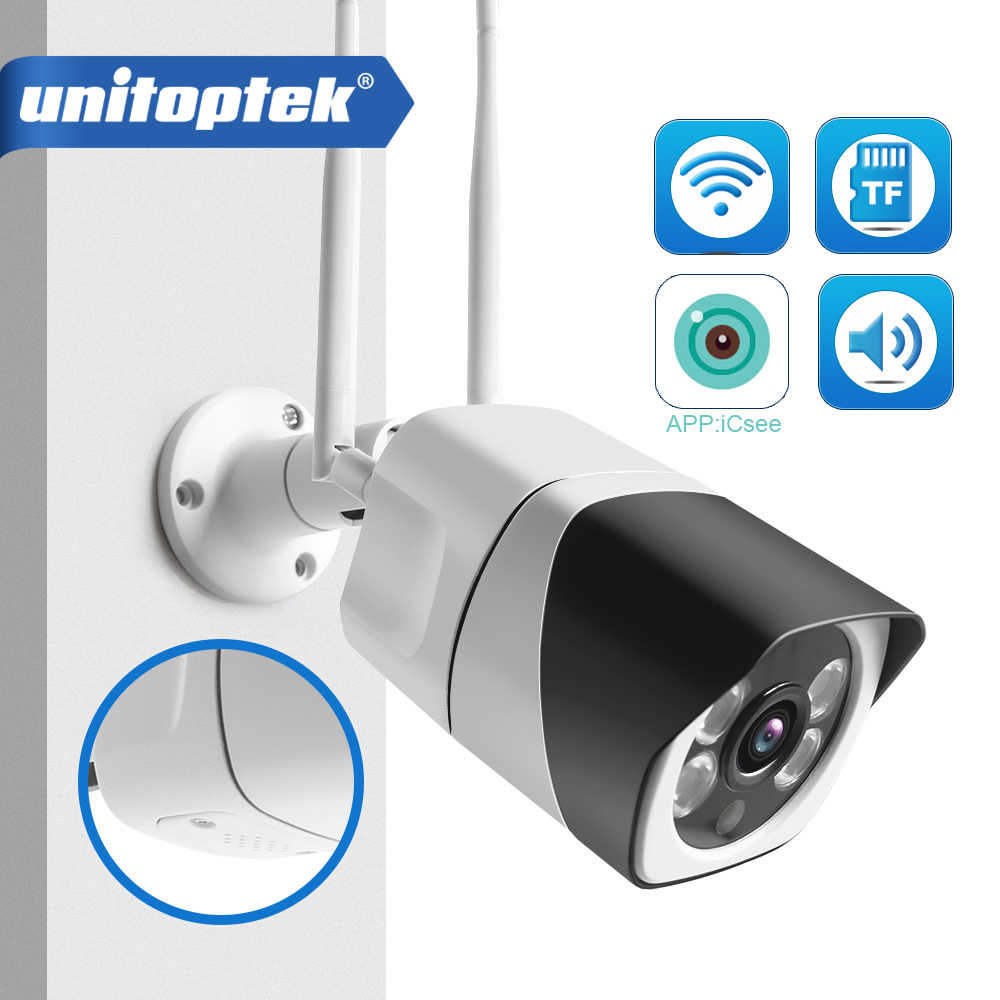 HD 5MP Wifi IP Camera ONVIF 1080P Wireless Wired CCTV Bullet Camera Outdoor Two Way Audio TF Card Slot Max 64G IR 20m P2P iCsee
