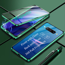 For ZTE Nubia Z20 NX627J Magnetic Case 360 full Protection double-sided Tempered Glass Case Nubia Z20 NX627J Metal Bumper Case