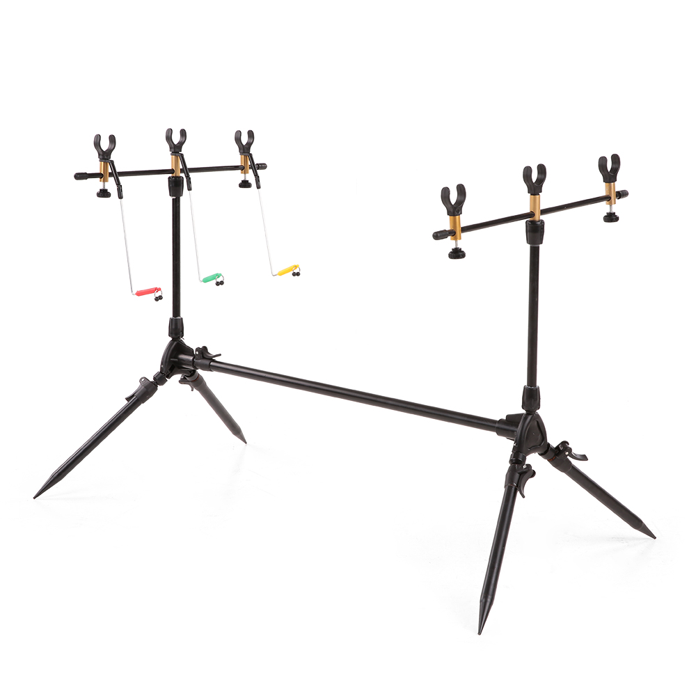 Lixada Adjustable Retractable Carp Fishing Rod Pod Stand Holder Fishing Pole Pod Stand Fishing Tackle Fishing Accessory
