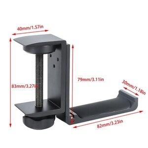 Image 5 - Universal Aluminium Alloy Headphone Holder Headset Bracket Hanger Metal Wall Clamp Hook Foldable Earphone Stand Desktop