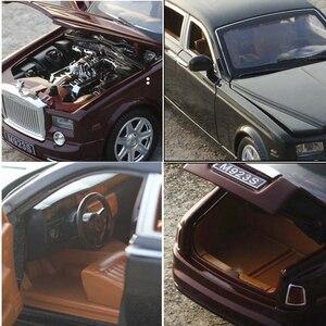 Image 5 - 1:24 Rolls Royce Cullinan alliage voiture modèle Simulation SUV métal voitures modèle lumière son tirer retour échelle voiture Miniatur voiture HC0004