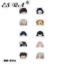 Small Stickers Demon Slayer Agatsuma Zenitsu Anime Stickers Waterproof 10Pcs/Set Kids Pegatinas Mobile Laptop helmet Decals