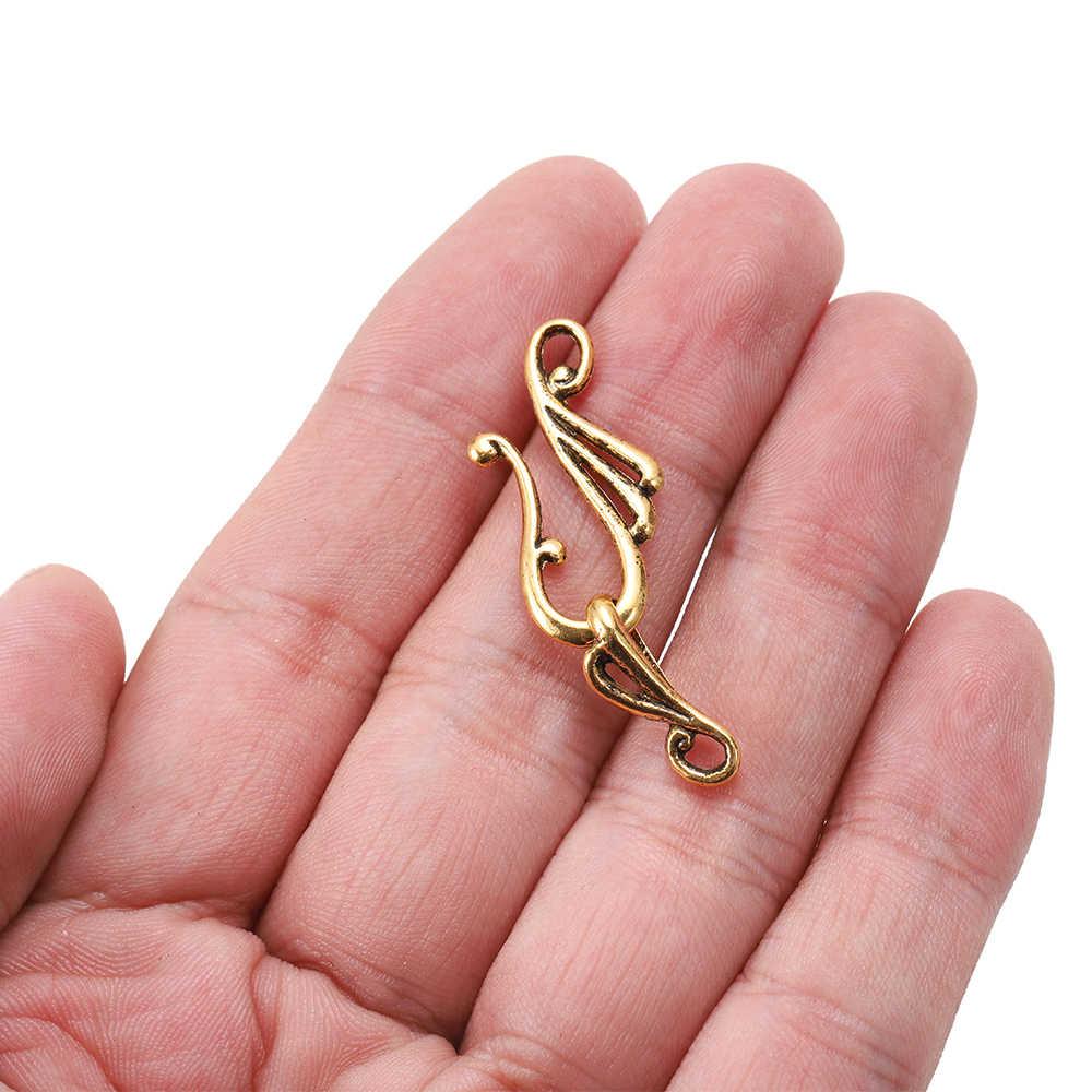 10個アンティークブロンズゴールド音符の形の亜鉛合金の場合をネックレスブレスレットジュエリーメイキング用品diy