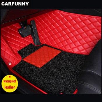 CARFUNNY Waterproof Leather car floor mats for Nissan QashqaiSylphySunnyCefiroX-TRAIL   Custom Automotive Carpet