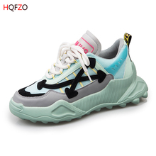 HQFZO High Quality Women Sneakers Beauty Walking Running Platform Casual Fashion