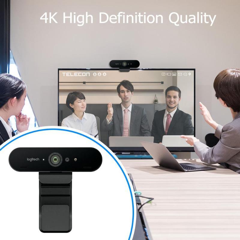 Logitech BRIO 4K Ultra HD Webcam-USB 2.0-4096x2160 Video w// Built-in Microphone