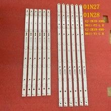 5 مجموعة = 60 قطعة LED الخلفية قطاع ل 49PUT4900 49PFS5301 49PUF6701 EVTLBM490E0601 AK 3 R EVTLBM490E0501 AJ 01N27 01N28 LBM490E0601