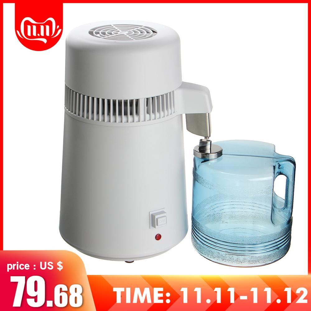 110V/220V Distilled Water Machine Safe Health Water Distiller Stainless Steel Household/Commercial/Lab Use Water Distiller