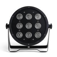 9x18W led par light 6in1 RGBWA UV Led Stage Light LED Flat SlimPar dj lights With DMX512 Flat DJ Equipments Controller