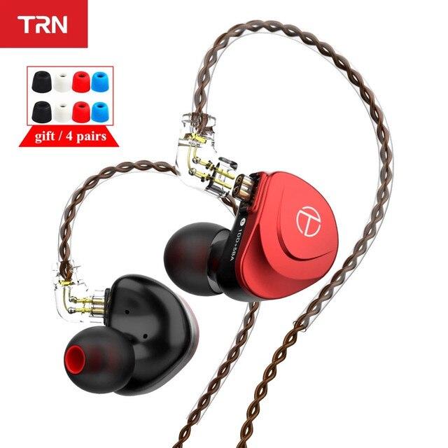 TRN V90s 5BA 1DD الهجين المعادن في الأذن سماعة IEM HIFI DJ رصد تشغيل سماعة أذن تستخدم عند ممارسة الرياضة سماعة TRN V90 VX CA16 ZSX ASX
