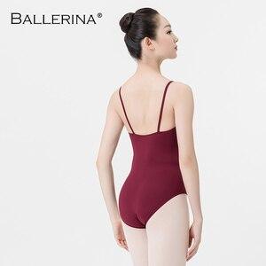Image 2 - Ballet prática collant feminino dança traje sling dança preto collant adulto meninas ginástica collant bailarina 5078
