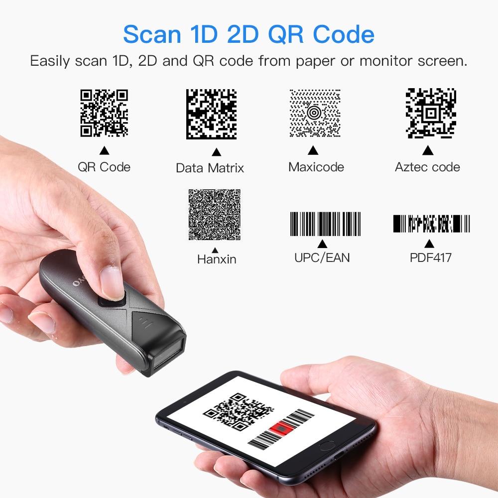 Eyoyo EY-015 Mini lecteur de codes à barres USB filaire/Bluetooth/ 2.4G sans fil 1D 2D QR PDF417 code à barres pour iPad iPhone Android tablettes PC - 6