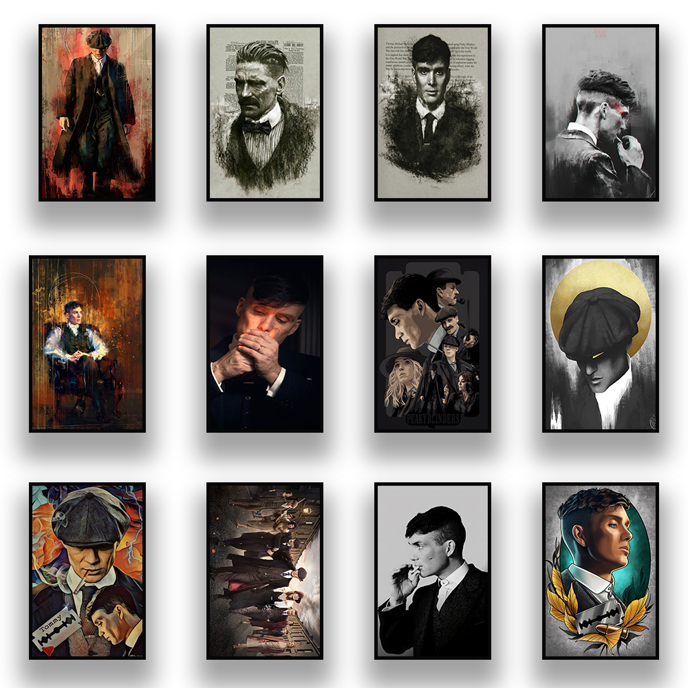 Peaky Blinders Movie Poster Canvas Painting Modern Home Wall Art Decoration Mural Living Room Bedroom Decor Cuadros Quadro
