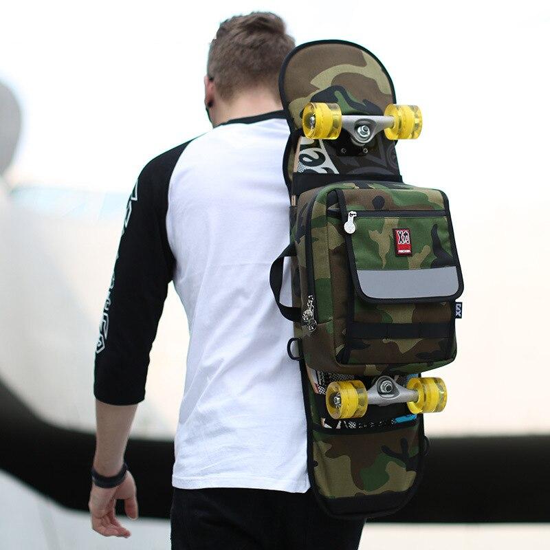 Camouflage Oxford planche à roulettes sac Double Rocker planche à roulettes grand poisson planche à roulettes sac à dos hommes femmes Longboard sac à main Skate sacs