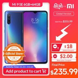 Versão Global Xiaomi Mi 9 SE 6GB 64GB Telemóvel Snapdragon 712 Núcleo octa 5.97 ''AMOLED 48MP Triplo Câmera NFC smartphones