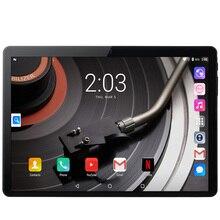 Tablet de 10.1 polegadas pc android 7.0, google play 3g, chamada de telefone, tablets, dois chips, wi fi, gps, bluetooth 2.5d tela de vidro temperado
