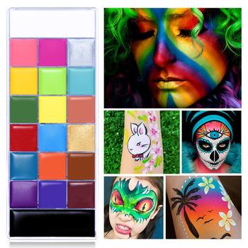 Olej do malowania ciała profesjonalny nietoksyczny paleta do makijażu malowanie twarzy paleta sukienka narzędzia do makijazu tanie i dobre opinie CN (pochodzenie) Jedna jednostka 168g Farba do ciała