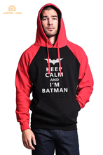 Super Hero Keep Calm Batman Funny Raglan Hoodies Slim Fit Sweatshirts Men Tracksuit
