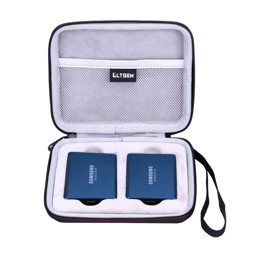 LTGEM Waterproof EVA Hard Case For Samsung T5 T3 Portable 250G 500G 1TB 2TB SSD USB3.1 External Solid State Hard Drives