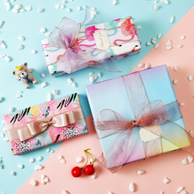 50*70cm 1pc Macaron Gift Wrapping Paper Handmade Decoration Diy Birthday