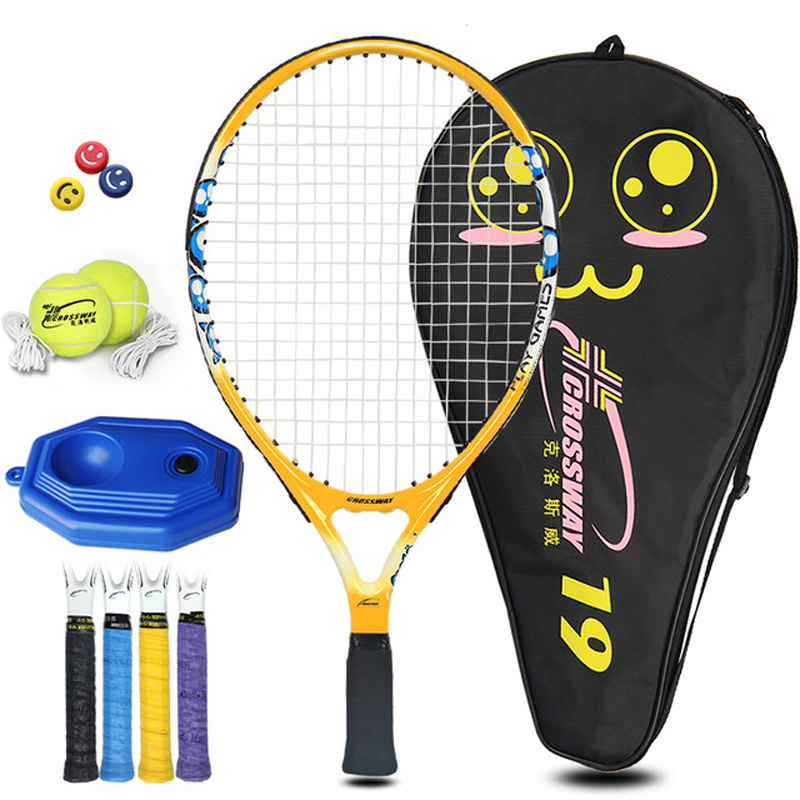 1Set Tennis Racket For Teenager Aluminium Alloy With Rope 19/21/23/25 Inch With Bag For Children Training Sport For Boy Girl