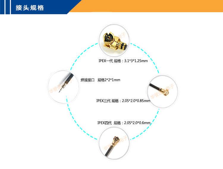 12 CENTIMETRI IPEX Antenna interna UFL PCB Antenna U. FL LTE Antenna per Mini pcie Modem EG25-G EC25-EC EC25-EU EC25-AF EP06-A EP06-E