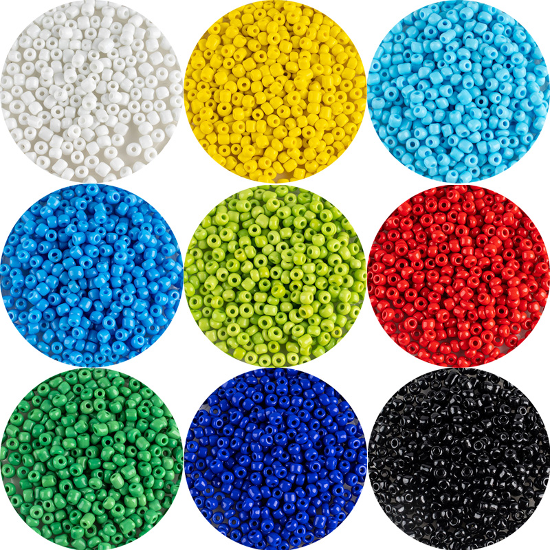 MH Opaque Fashion Glass Rice Beads 200pcs 4mm Multi-Color Loose Beads Suitable For Fashion Diy Jewelry Accessories