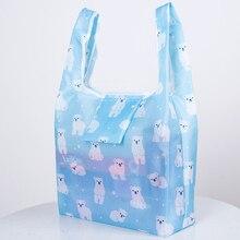 New Waterproof Nylon Reusable Shopping Bags Women Foldable Tote Bag Portable Cloth Eco Grocery Folding Pouch handbags
