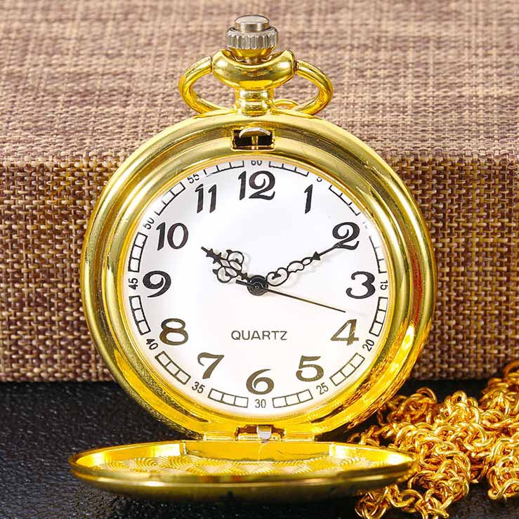 Gold Quartz Pocket Watch TO MY Son I LOVE YOU Chain Clock Commemorative Birthday Souvenir Gifts Top Brand Luxury Unique Watches
