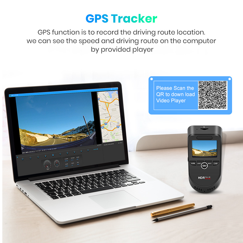 Image 4 - Junsun S590 WiFi 4K Car Dash Cam Ultra HD 2160P 60fps GPS ADAS DVR Camera Recorder Sony 323 Rear Camera 1080P Night Vision-in DVR/Dash Camera from Automobiles & Motorcycles