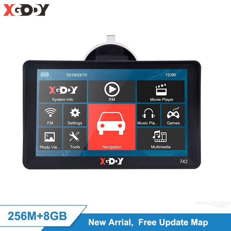 Xgody 7 ''nawigacja Gps ciężarówka nawigacja samochodowa Gps Bluetooth kamera cofania nie Android Auto Navigator Sat Nav ekran dotykowy bezpłatna aktualizacja mapy